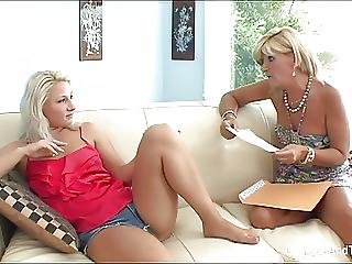Hot Milf Licks Her Blonde Stepdaughter S Pussy