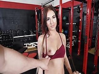 Gf On My Big Cock At Gym