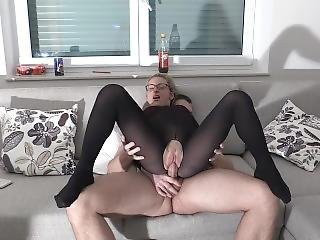 Crazy Nylon Fuck Extremely Cum Load