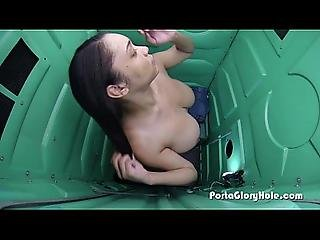Porta Gloryhole Girl Sucking Cock In Public 4 First Time