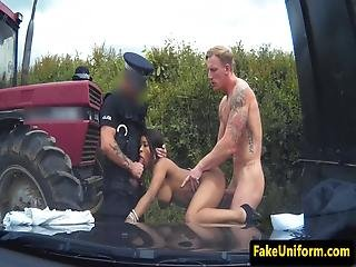 Uk Police Mmf Trio Outdoors With Pulled Bloke