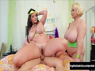 Angelina Castro Bbw Birthday 3way Treat%21