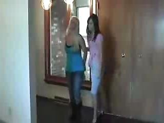 Blond Girl Cuffed And Arrested