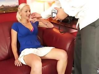 Gorgeous Blonde Amateur Fucks Cock During Casting