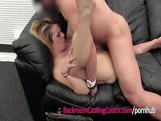 Cheating Wife Ass Fucked And Inseminated On Casting Couch