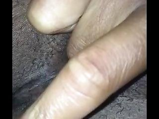 Hairy Girlfriend Rubbing Her Pink Clit