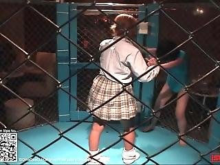 Wrestling 0010; Japanese Girl Cage Match