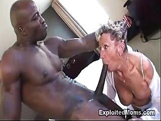 Old Granny Takes A Big Black Cock In Her Ass Anal Interracial Video