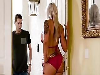 Hot Mom Swims Scene Starring Nina Elle And Xander Corvus