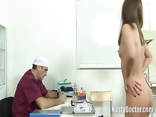 Teenage Babe With Nice Face Is Fucked Hard By A Gyno