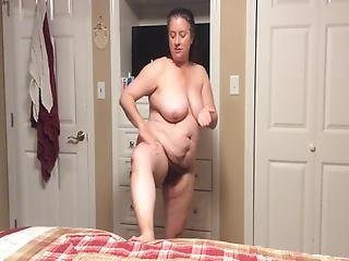 Bbw Mom With Hairy Pussy Post Shower Routine