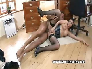 Czech Slut Renata Black Gets Her Ass Fucked In The Office