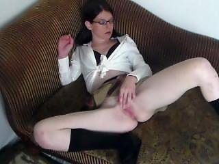 School Girl Gets Caught By Her Parents Masturbating