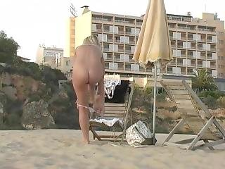 пляж, большая синица, блондинка, общественный, дразнение, Молодежь