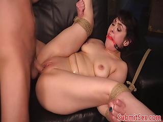 Bdsm Dom Pussy Fucks After Whipping Tiedup Sub