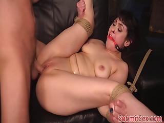 anal, bdsm, brunette, fetish, kneppe, hardcore, fisse, bundet, pisk
