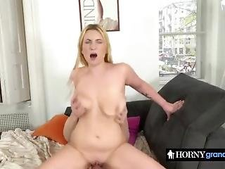 Shaved Pussy Filled With Hard Dick