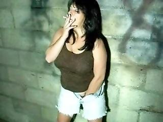 Fingers Her Pussy And Smoking Just For You