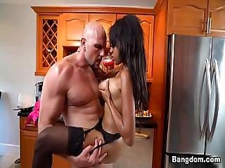 Britney White Fucked On Kitchen