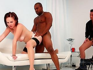 Cuckold Wanks His Limp Dick While Wife Katie Kox Gets Pummeled By Black Guy