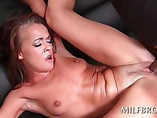 Hot Milf Takes Black Cock Doggy Style On The Floor