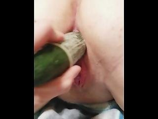 Girl Squirts While Gf Fucks Her With Cucumber