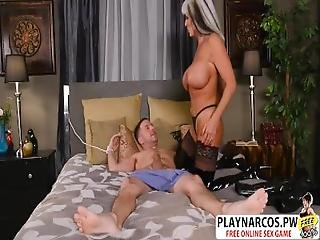 Cougar Mommy Sally D Angello Wants To Fuck Hard Teen Step Son