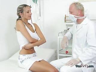 Big Breasted Chick Gets Felt Up By Her Nasty Doctor
