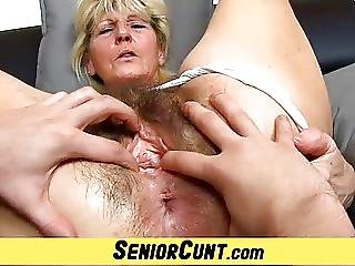 Close Ups Of Hairy Old Pussy Of Czech Granny Hana