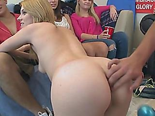 Horny College Girl Gets Pussy Stretched During Hot Sex Party