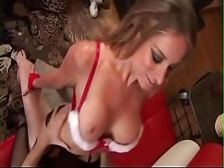 Pierced Christmas Pussy Is Fucked Hard