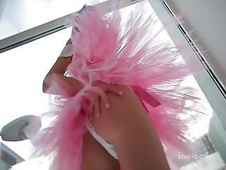 Gorgeous Russian Teen Sveta Lusciously Dancing Wearing A Ballerina Tutu Dress