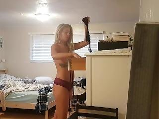 Bedroom Spycam Catches My Sister Undressing After School!!!!