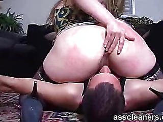 Real Huge Butt Smothers Poor Man