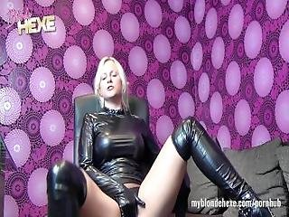 Blondehexe   German Latex And Leather Slut