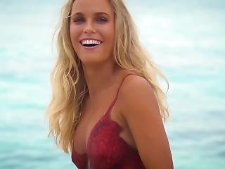 blonde, beroemdheid, zwempak