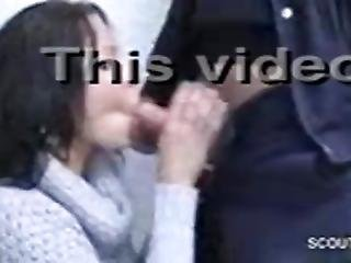 German Girl With Sweater Having Sex