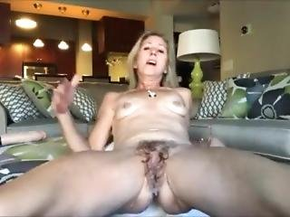 Mom Having Fun In The Livingroom