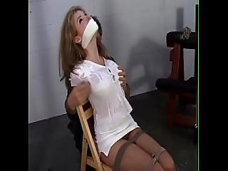 Candle Boxxx Tied Up And Made To Suck A Dildo
