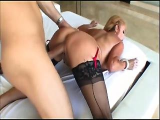 Cumshot In Pussy Mature Whore In Stockings