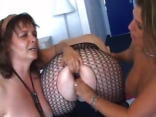 Three mature ladyrsquos  fistingpissing with toys