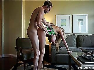 Big Dicked Husband Bangs His Busty Wife In Their Hotel Room