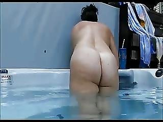 Amateur, Bbw, Blowjob, Outdoor, Pool
