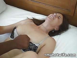 3 Hole Wife Pimped And Ass Fucked By Black Cock