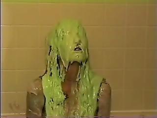 baignoire, blonde, fétiche, fine, bain