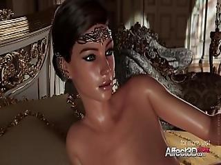 Horny 3d Princess Giving Blowjob To His Big-cock Prince
