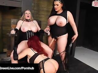 Maggie Green Angelina Castro & Sexy Vanessa Are Abused Bad!