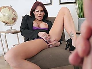 My Hot Stepmom Just Love When We Masturbating Togehter