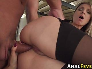 Analized Milf And Teen In Threesome