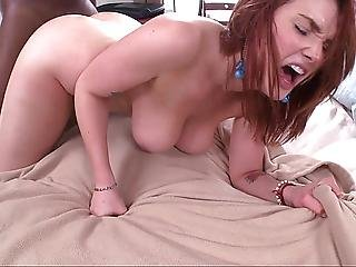 Natural Titted Redhead Teen Taking Big Cock